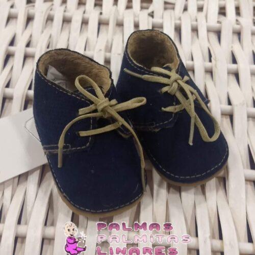 Zapato mayoral de antelina en marino con cordones 1