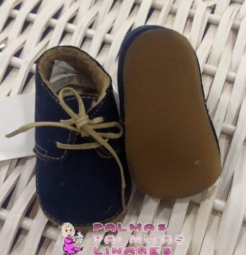 Zapato mayoral de antelina en marino con cordones 2