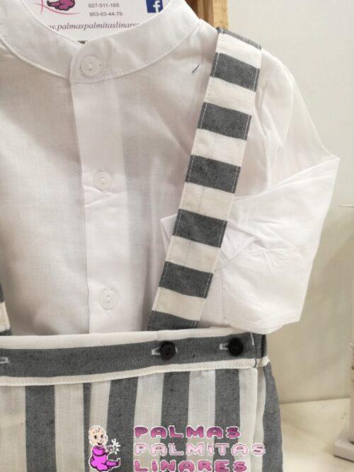 Conjunto de camisa y peto de rayas 2