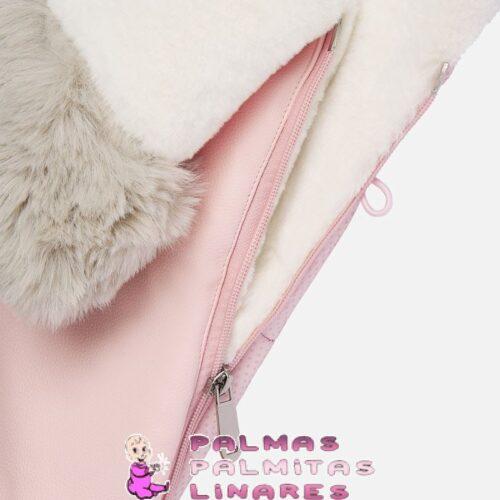 Saco para silla detalle pelo polipiel rosa 3