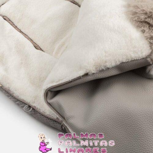 Saco para silla detalle pelo con polipiel gris 3